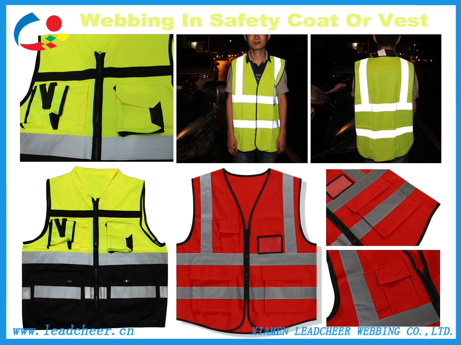 reflective strap for safety clothing