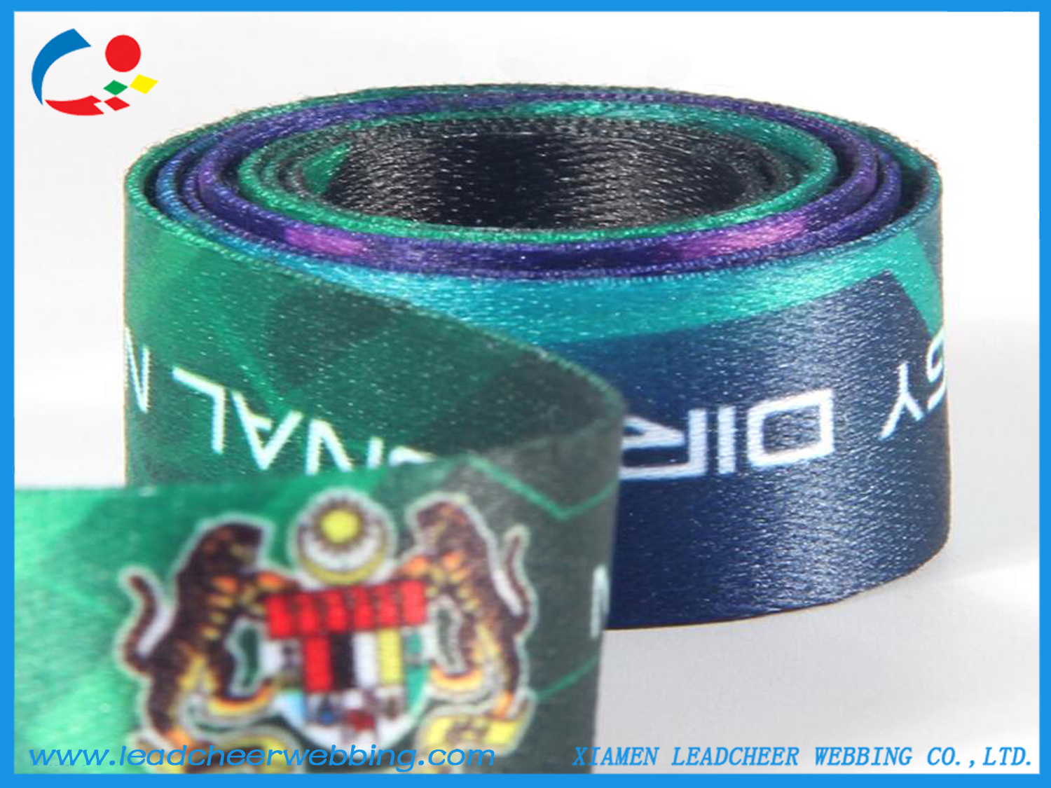 printed colored polyester webbing straps
